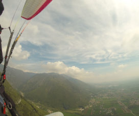 Paragliding in Italien am Monta Grappa