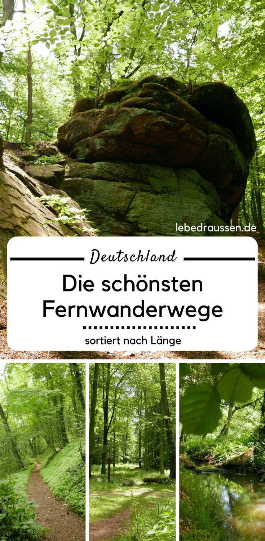 Wanderwege Deutschland Karte.Deutschlands Schönste Fernwanderwege Sortiert Nach Länge